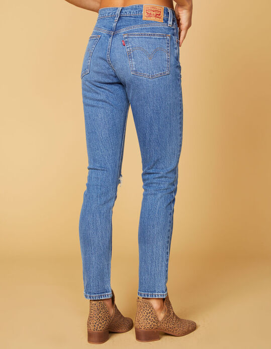 LEVI'S 501 WOMENS SKINNY JEANS DARK WASH