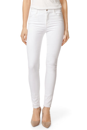 J Brand Maria High-Rise Super Skinny In Blanc