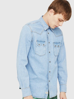 Diesel D-LEO Western shirt in denim
