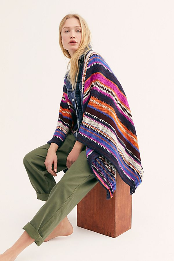 PONCHO TRUCKER JACKET