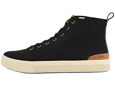 toms, lace up, toms, mens shoes, mens, high top, black
