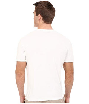 john varvatos, mens, mens tshirt, mens tops, tops, cotton, white, crew neck notched, tshirt