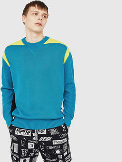 Diesel K-MELT Colour-block sweater in cotton