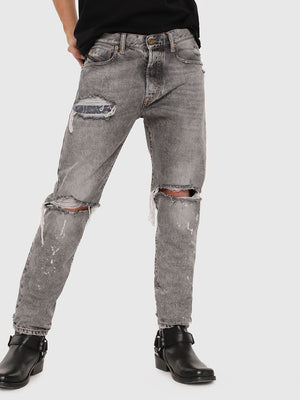 Diesel mharky l.32 trousers in black denim