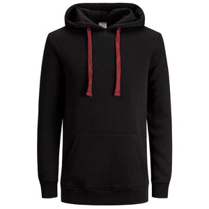 JORLETTER SWEAT HOOD IN BLACK