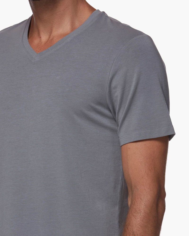 paige mens shirts, denim, mens, paige tops, mens tshirt, tshirt, grey, v neck