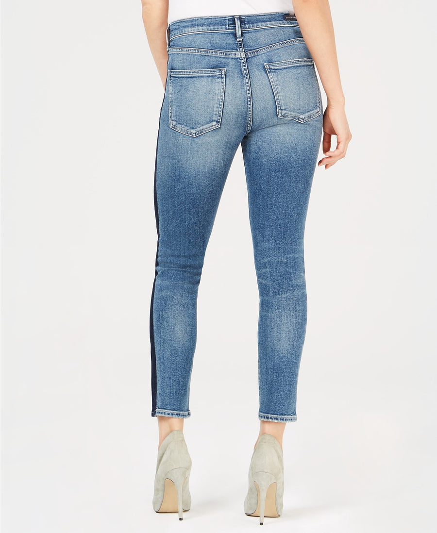high rise, skinny, citizens, womens denim, denim, stripe, trend
