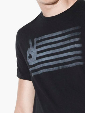 John Varvatos Black Peace Flag T-Shirt