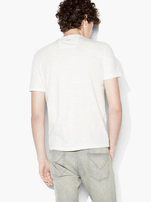 john varvatos, mens, mens tshirt, mens tops, tops, cotton, white, peace symbol, tshirt
