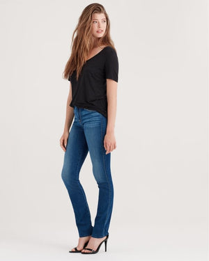 sevens, seven for all mankind, womens denim, sevens denim, denim, womens, straight, 7s, high waist, dark wash