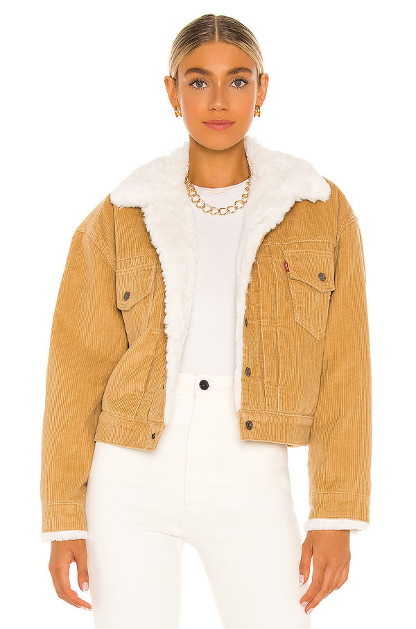 Heritage Faux Fur Lined Cord Trucker Jacket