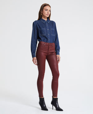 ag, women, denim, vintage leather