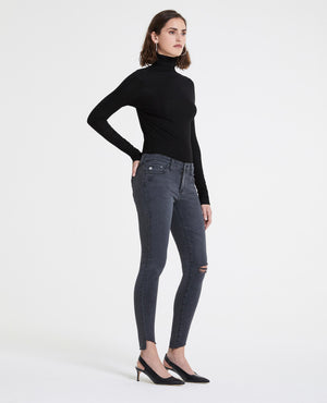 agdenim, women, skinny, stretch, lightweight, black, ripped