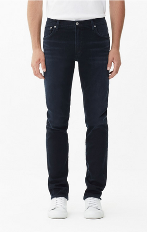 slim fit, mens denim, denim, citizens, dark blue