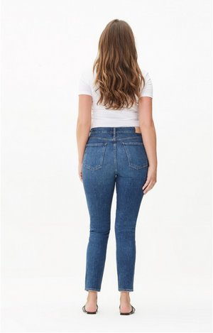 Citizens of Humanity Olivia High Rise Slim Ankle (Exposed Fly) Denim