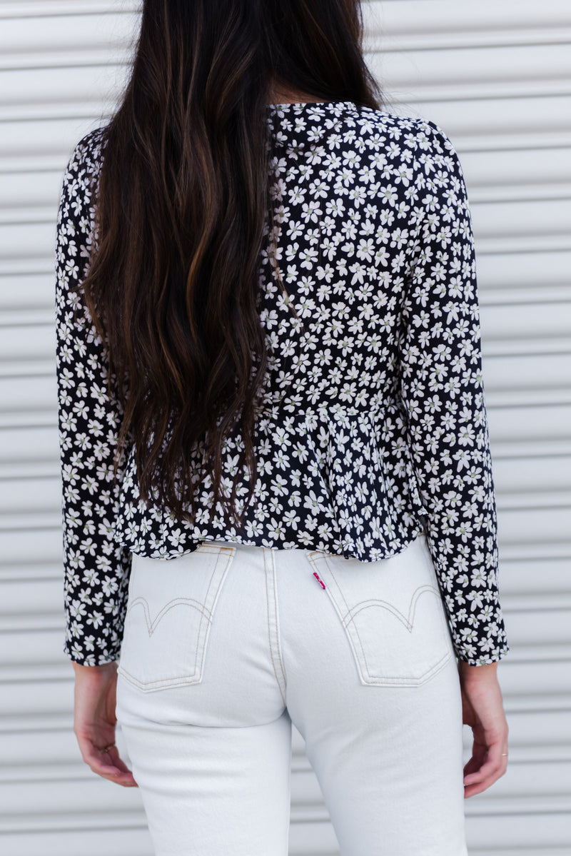 WILDFLOWER TIE-FRONT BLOUSE