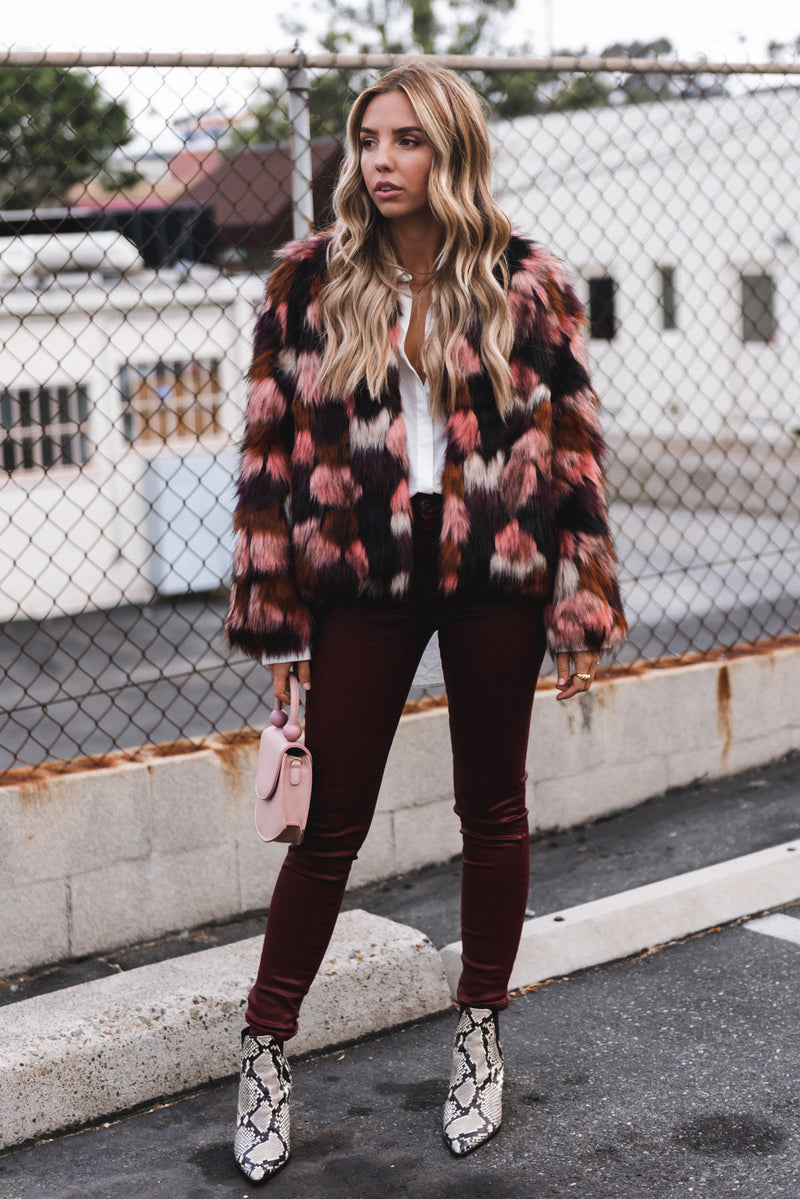 Shades of Pink Faux Fur Jacket