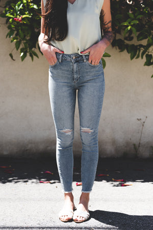 DL-1961 Farrow Crop High Rise Skinny In Toledo