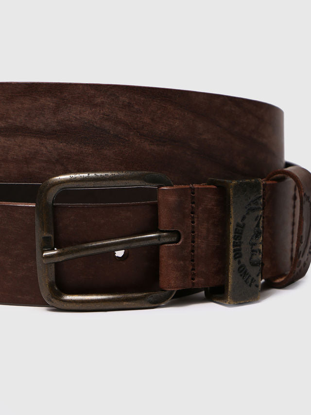 belt, diesel, men, silver buckle, brown