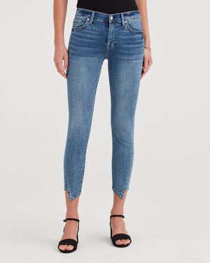 Seven for All Mankind Ankle Skinny with Spliced Hem in Authentic Fortune