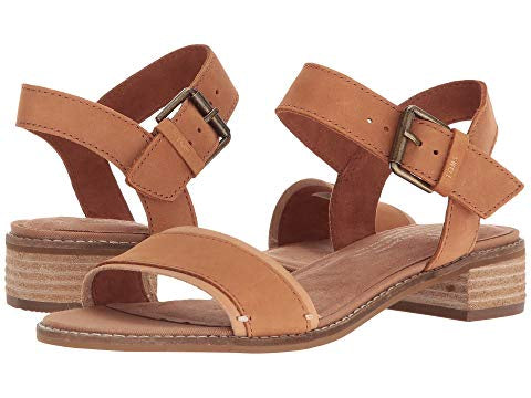 leather, tan, sandal, tom, women