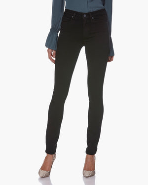 PAIGE Hoxton Ultra High Rise Skinny Black Shadow