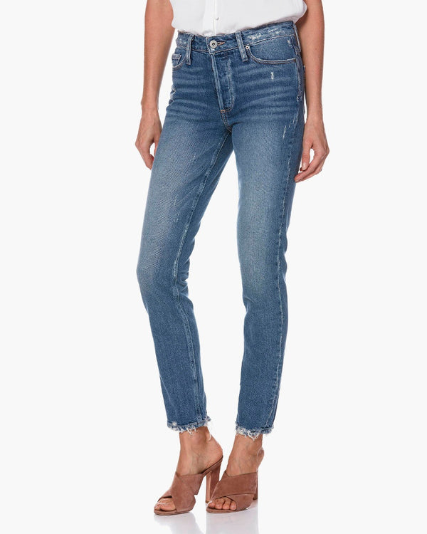 paige denim, paige, womens denim, denim, skinny, light wash, ankle, high rise, stretch, fray, paige, womens denim, women