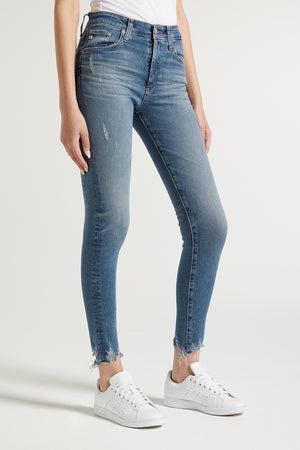 skinny, women, agdenim, denim, fringed ankle