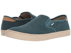 sneaker, no laces, blue, toms, trendy, slip on