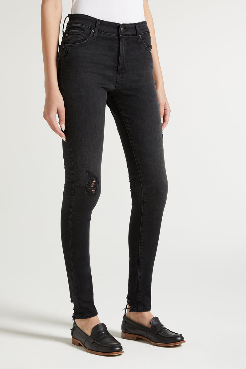highrise, farrah, agjeans, women, denim, black