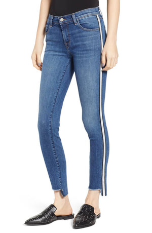 j brand, 811 skinny jeans, denim, womens denim, sidewall stripe, skinny
