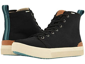 toms, slip on, toms, mens shoes, mens, high top, black