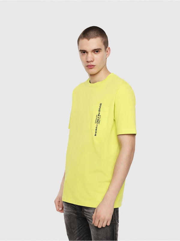 Diesel T-Just-Pocket T-Shirt In Mustard
