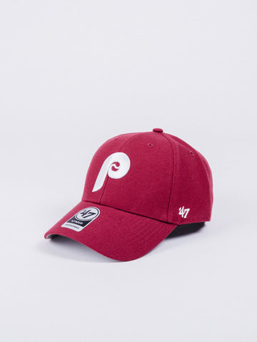 47 CLEAN UP Philadelphia Phillies Dad Hat Red
