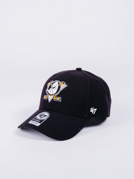47 BRAND MVP Anaheim Ducks Adjustable Hat Black visera curva hockey patos