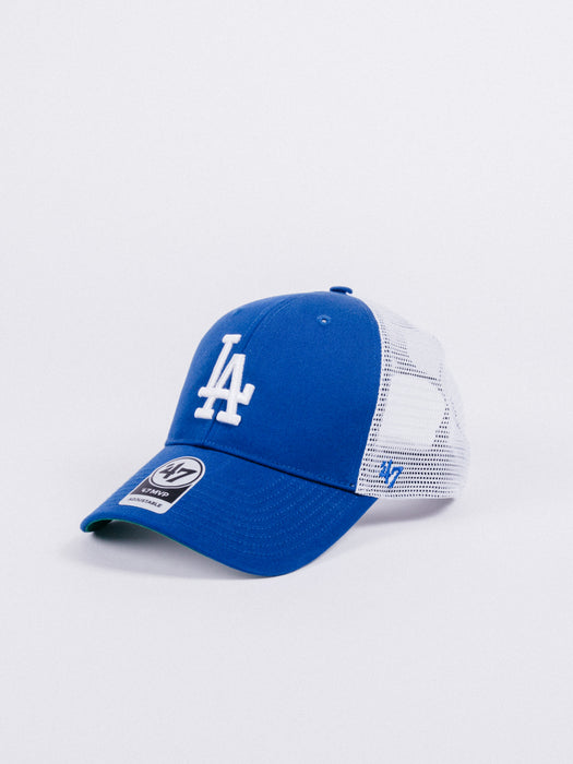 gorra 47 brand branson mvp los angeles dodgers trucker royal blue white adjustable visera curva