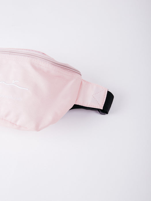 Karl Kani KK Signature Waist Bag Rose/White riñonera