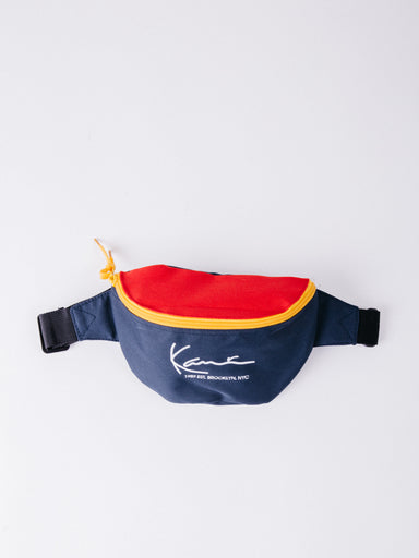 Karl Kani Signature Waist Bag Navy/Red/Yellow riñonera