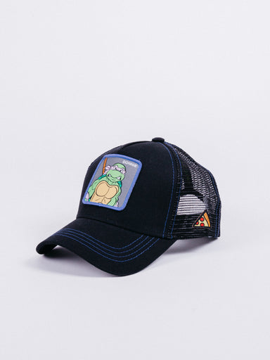 Capslab Teenage Mutant Ninja Turtles Donatello Trucker Black visera curva rejilla camionero tortugas ninja donnie parche