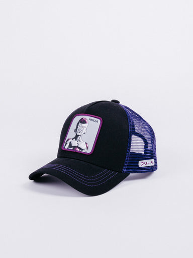 gorra capslab dragon ball z frieza trucker black purple visera curva rejilla freezer bola de dragon camionero parche
