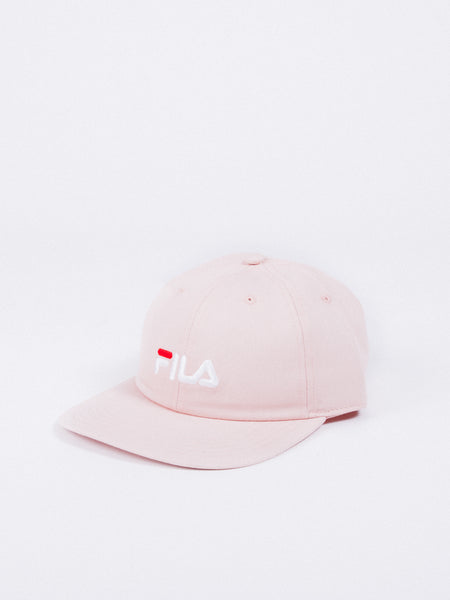 fila linear cap 6 panel peach whip pink visera curva ajustable