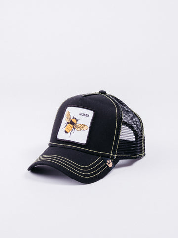 gorra Goorin Bros Queen Bee Trucker Black visera curva animales