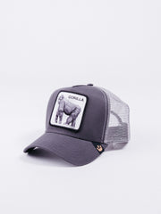 gorra Goorin Bros King Of The Jungle Trucker Grey visera curva