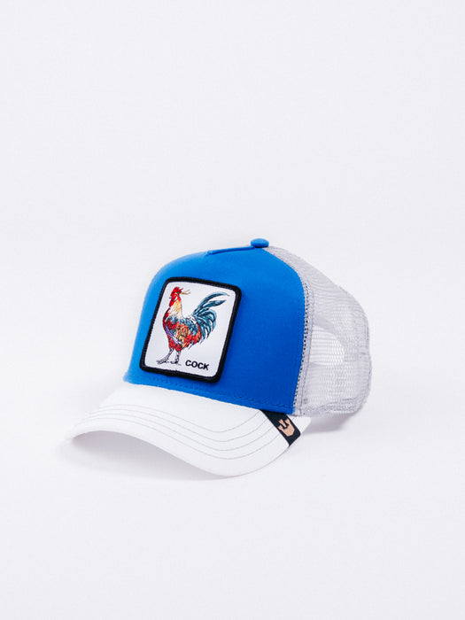 gorra Goorin Bros Gallo Trucker Royal visera curva animales