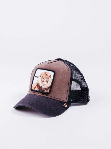 gorra Goorin Bros King Trucker Brown visera curva animales