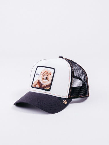 gorra Goorin Bros King Trucker Black & White visera curva animales