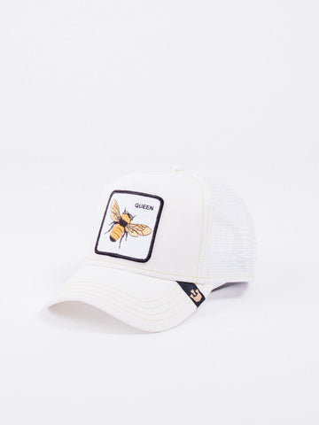 gorra Goorin Bros Queen Bee Trucker White visera curva animales