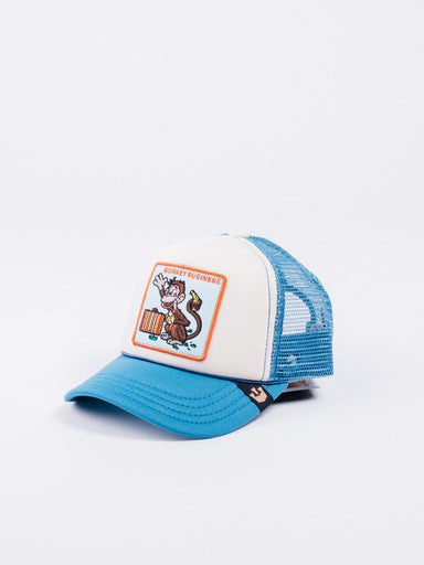 gorra Goorin Bros Monkey Business Trucker Niño visera curva animales
