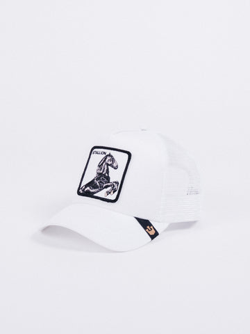 sale retailer 5a46f 8452a Goorin Bros Stallion Trucker White