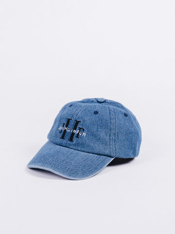 gorra JUST HAVE FUN Stoned Washed Dad Hat Denim visera curva ajustable